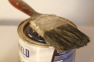 paint and paint brush for home renovation