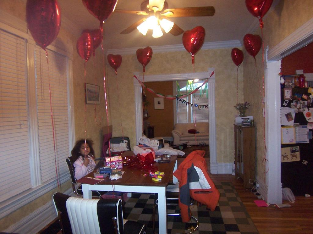 room decoration for Valentine's day
