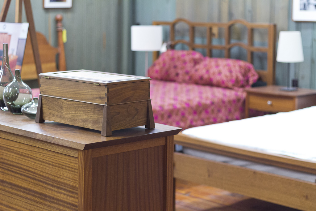 Wooden furniture to match your log cabin house.