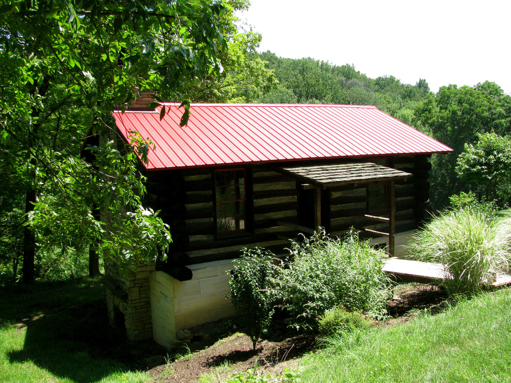 Most of the log homes in the list are considered modern cabins in the woods.