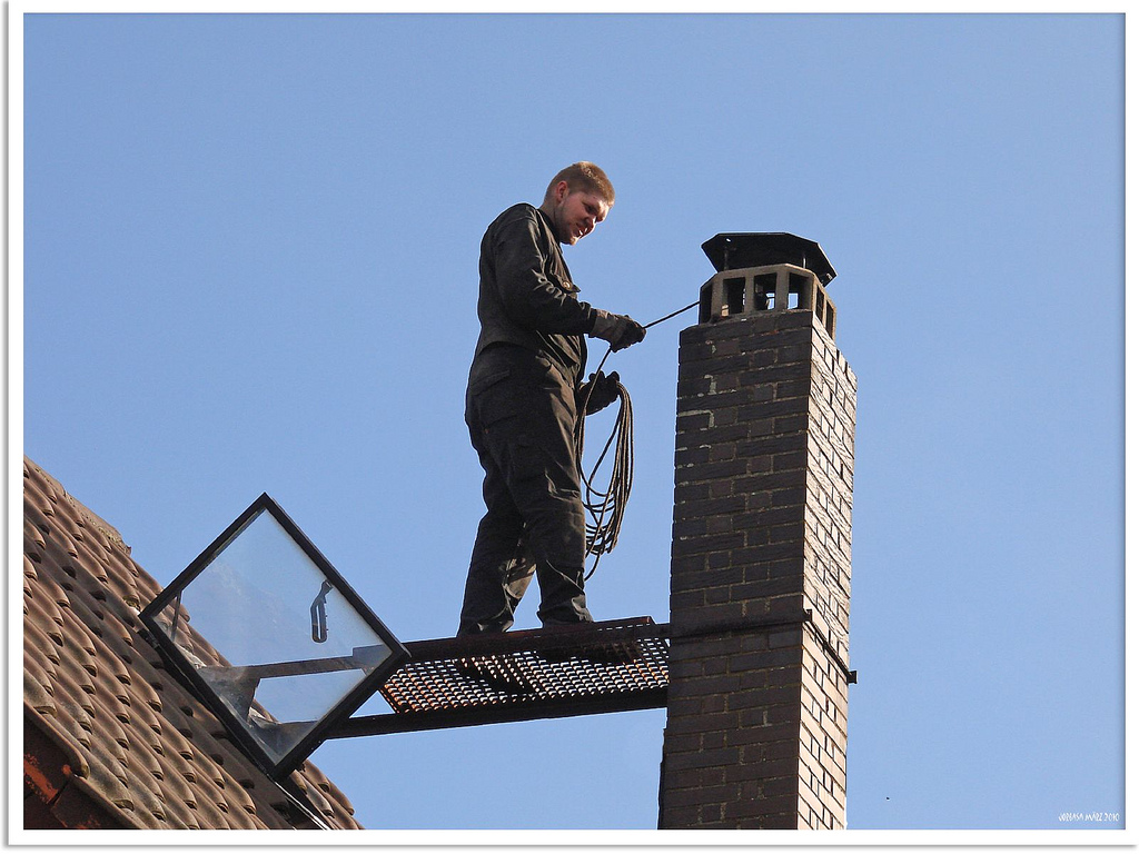 Chimney spring cleaning.