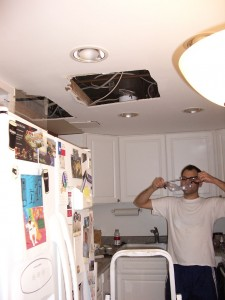 Home ceiling repair.