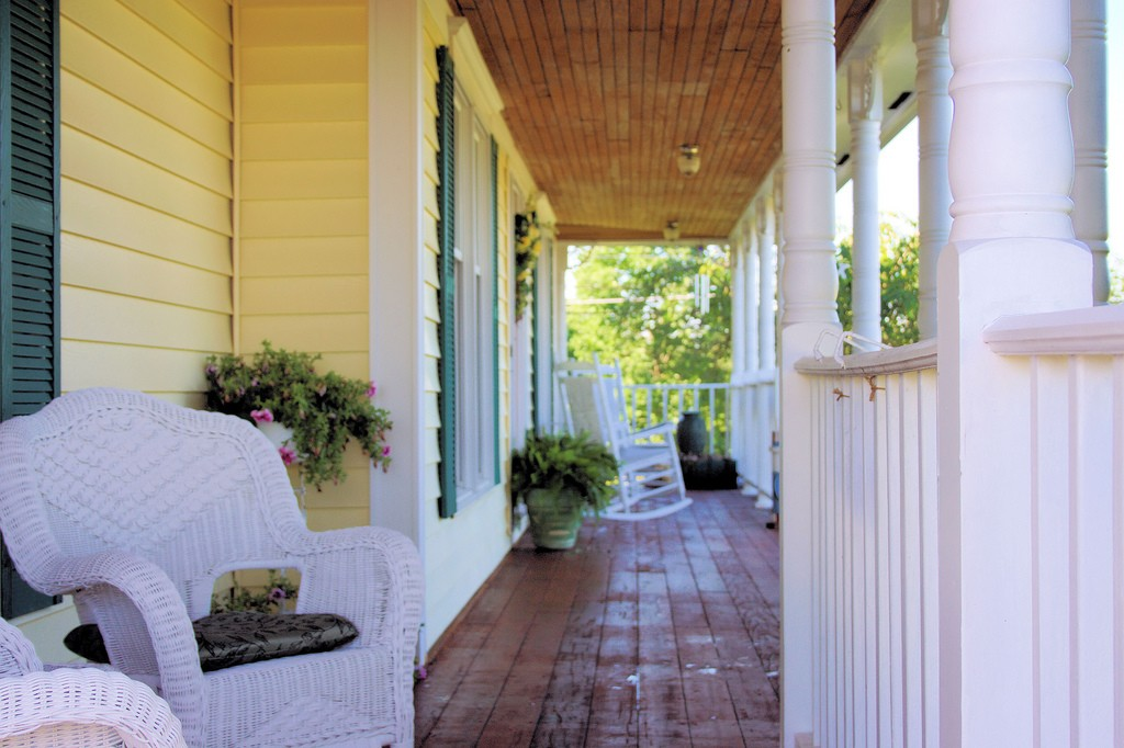 Wooden porch.