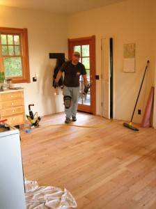 Use a laminate floor repair kit for easier fix.