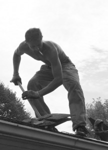 Inspect your roof for any missing shingles.