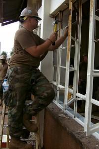 Repair window frames.