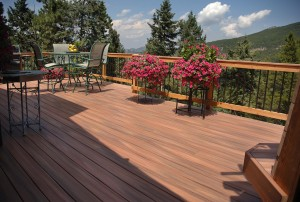 Use mild detergent and soft bristled brush when cleaning your deck.