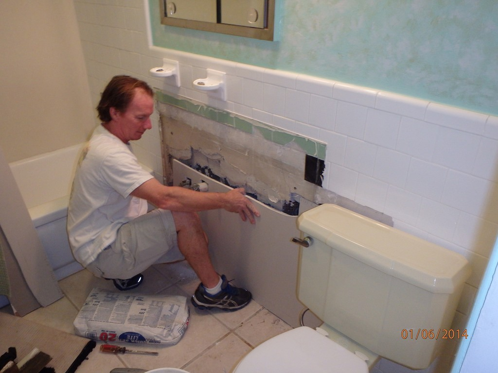 Bathroom repair.