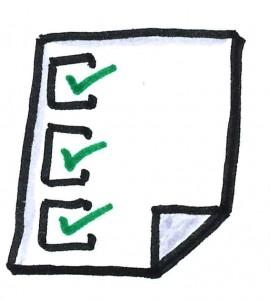 Draw a checklist.