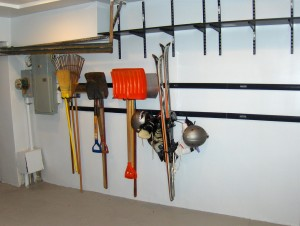 Organize tools in your garage.