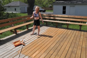 Keep your deck clean.